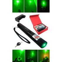 Super Caneta Laser Pointer 35000mw Verde +kit Completo Cp48