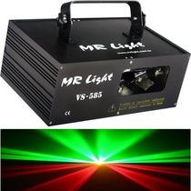 Laser Dj Mr Light Verde E Vermelho 300 Mw Automatico & Dmx