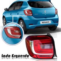 Lanterna Sandero 2015 Bicolor Renault Traseira Lado Esquerdo