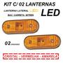 Lanterna Lateral Led Caminhão Carreta Reboque (kit 02 Unid)