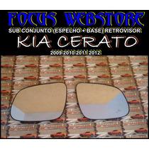 Sub Conjunto Retrovisor Kia Cerato Espelho+base 09 10 11 12