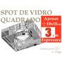 Spot De Embutir Quadrado Metal E Vidro Cristal Com Lampada
