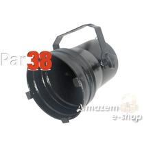 Canhão Refletor Par 38 Preto C/ Porta-gelatina Iluminação