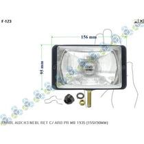 Farol Auxiliar H3 Neblina Retangular C/ Aro Mercedes-benz