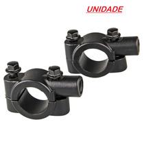 Abraçadeira Guidão 22mm Suporte Retrovisor C/rosca 10mm