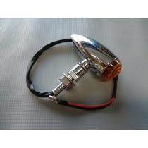 Pisca Cromado Tipo Foguete ( Bullet ) Para Motos Custom