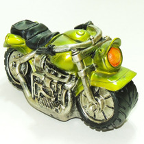 Moto Estradeira Resina Cofre Decoraivo Harley Honda Indian