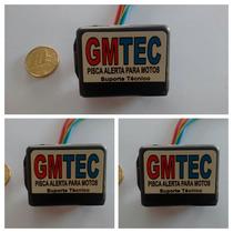 Pisca Alerta De Moto Gmtec, Kit Com 3 Unidades Frete Gratis!