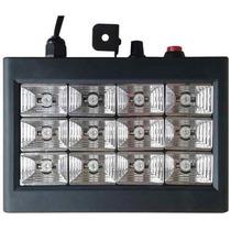 Iluminação Festa Dj 12x1w Led Rgb Sensor De Som Strobo