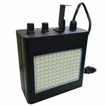 Efeito Strobo 108 Leds Luz Branca Sensor Rítmico Luz Balada