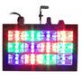 Strobo Ritmico 12 Leds Rgb 15w Dj Iluminação - Frete Grátis
