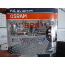 Lampada Silverstar 2.0 Osram H4(par) Super Branca 12v55w/60w