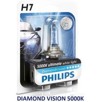 Lâmpada P/ Moto Diamond Vision H7,h3,h1 Xenon Philips 5000k