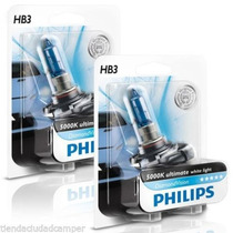 Lâmpada Diamond Vision H7,h3,h1 Xenon Philips 5000k P/ Motos