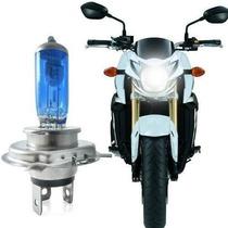 Lâmpada H4 35w 12v P/ Motos Super Branca Efeito Xenon
