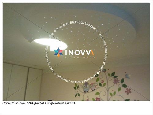 Iluminação Céu Estrelado Fibra Óptica Quarto Bebe 100 Pontos