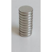 Super Ímã Neodímio Superpotente 10 Pçs Ø8 X 2mm