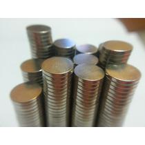 Imã De Neodímio / Super Forte / 8mm X 1,5mm * 50 Peças *