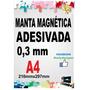 Manta Magnética Adesivada Kit Com 10 Folhas A4 0,3 Mm