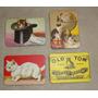 4 Imãs Gatos Magnético Geladeira Retrô Souvenir Gatinho Cat