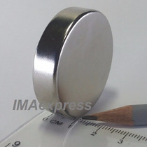 Super Ímã Neodímio N50 Grande 40x10mm 6300 Gauss Potente Top