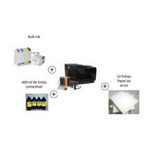 Kit Impressora Hp 8610 Adaptada P/papel De Arroz + Tintas