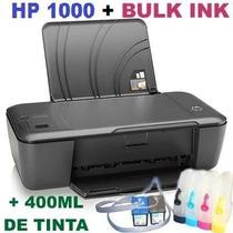 Impressora Hp 1000 C/ Bulk Ink + 400ml De Tinta Confira!!