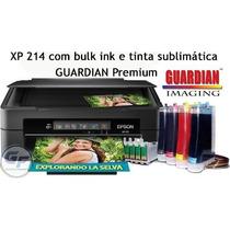 Impressora Epson Xp 214 Com Bulk + 400ml Tinta Sublimatica