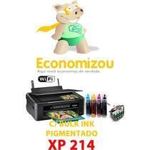 Epson Xp214 Bulk Pigmentado+4 Cartuchos+frete Grátis Rápido!