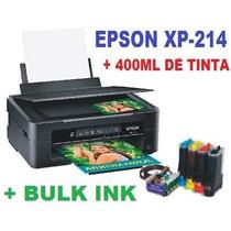 Impressora Epson Xp 214 + Bulk Ink + 400ml Tinta Sublimática