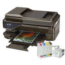 Impressora A3 Hp 7612 Mult + Bulk Ink +500mltinta Pigmentada