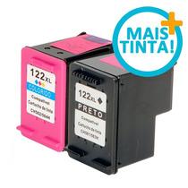 Kit Cartuchos Hp 122 Xl Preto E Color Compatível Novo