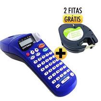 Rotulador Etiquetas Adesivas Letra Tag Dymo C/2 Fitas