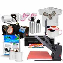 Ub07 Kit Prensa De Caneca + 38x38 + Impressora L220 + Insumo
