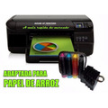 Impressora Hp Pro 8100 Adaptada P/ Imprimir Em Papel Arroz.