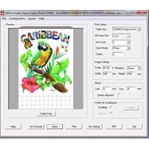 Ekprint Studio 3.7.6 Software Rip Impressora Dtg Epson T1110