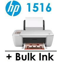 Multifuncional Hp 1516 C/ Bulk Ink + 400 Ml De Tinta + Snap