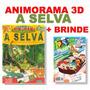 Animorama 3d A Selva Livro De Dobragens Infantil + Brinde
