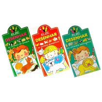 Coleção Eu Sei Desenhar Animais 3 Livros Infantis Educativo