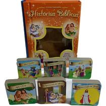 6 Mini Livro Cartonados História Bíblica Infantil Bebê B9594