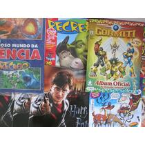 Lote Com 15 Revistas Recreio E 5 Álbuns De Figurinhas Vazios