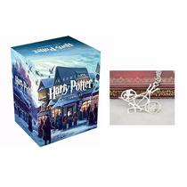 Box Coleção Harry Potter 7 Livros + Colar Sagas Misto