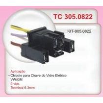 Chicote 5 Vias Chave Vidro Eletrico Vw Gm #0822
