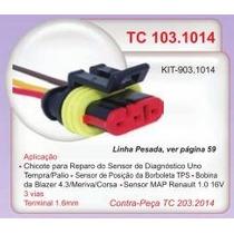 Chicote Rep 3 Vias Sens Diagno E Borb Uno Tempra Palio #1014