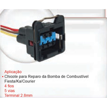 Chicote Conector Plug 5 Vias Bomba Ford Ka Fiesta Courier