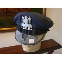 Antigo Quepe Com Emblema Da Polícia Americana - Insígnia