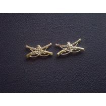 Distintivo Dourado De Gola Infantaria (par)