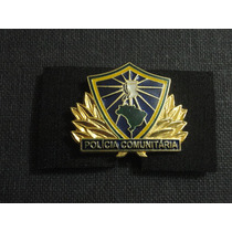 Distintivo De Metal Polícia Comunitária Multiplicador