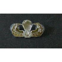 Distintivo De Metal Prateado Paraquedista Para-sar