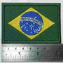 Bandeira Bordada Brasil 8x5,5 Cm Patch Termocolante